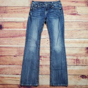 Miss Me Relaxed Boot Cut Jeans Size 28 Mid Rise